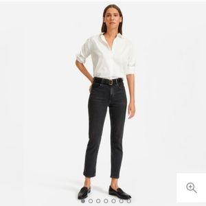 Everlane high rise Cheeky Straight Jean wash black